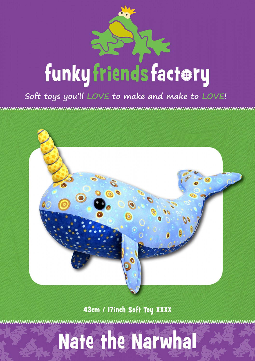 Nate-the-Narwhal-sewing-pattern-Funky-Friends-Factory-front