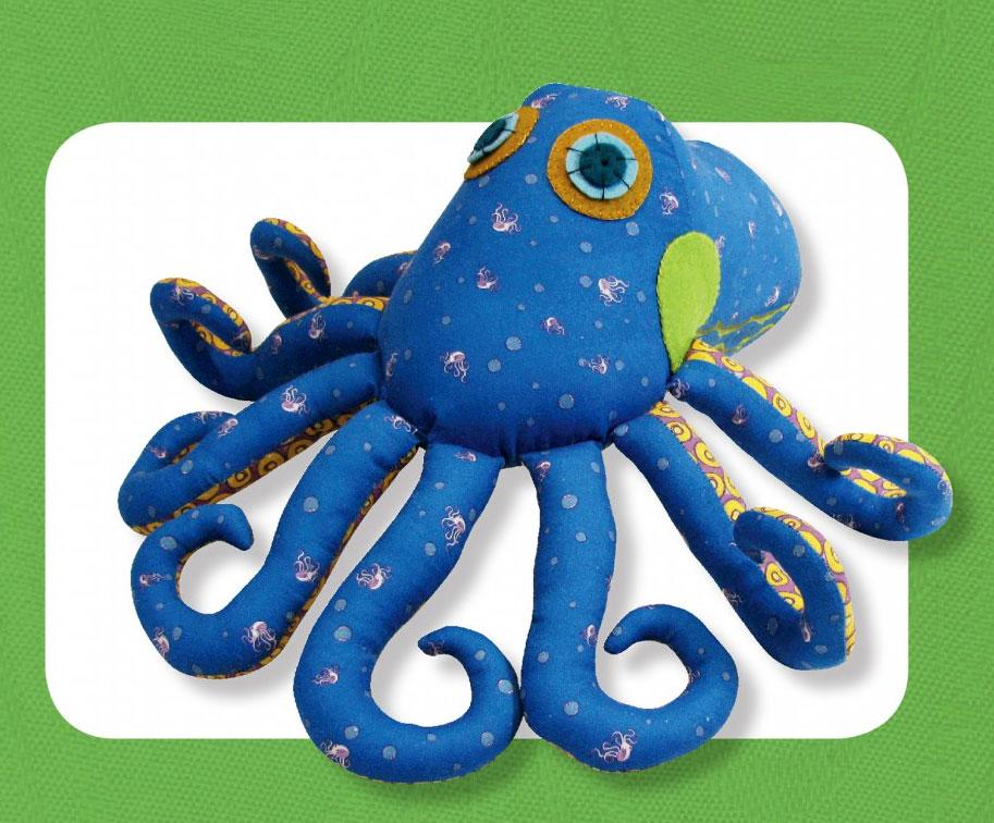 Ozzie Octopus sewing pattern Funky Friends Factory
