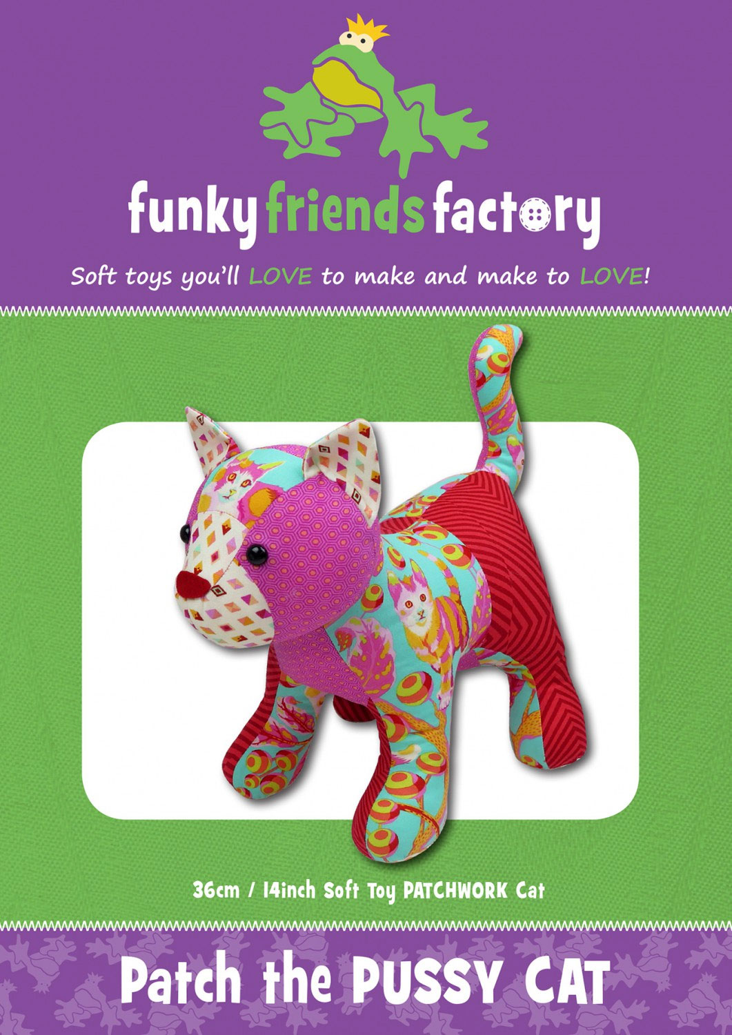 Patch-the-Pussy-Cat-sewing-pattern-Funky-Friends-Factory-front