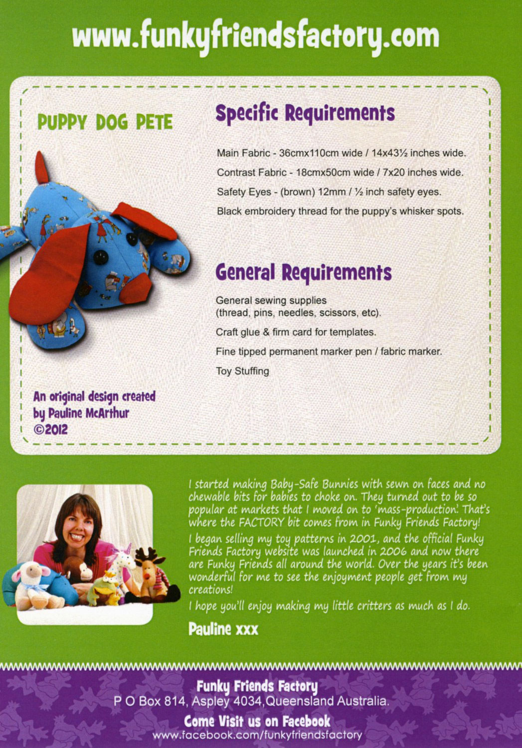 Puppy-Dog-Pete-sewing-pattern-Funky-Friends-Factory-back