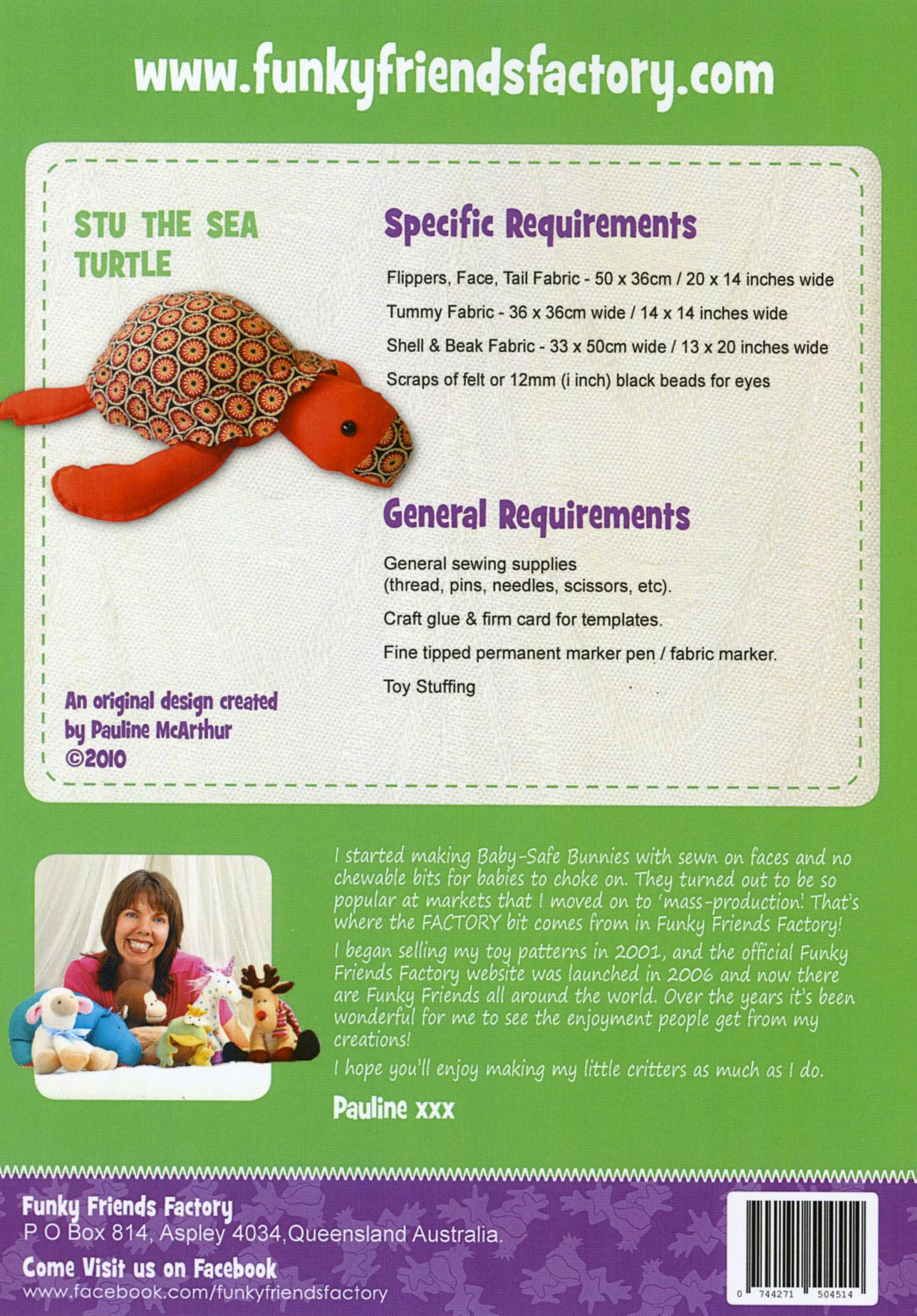 Stue-the-Sea-Turtle-sewing-pattern-Funky-Friends-Factory-back