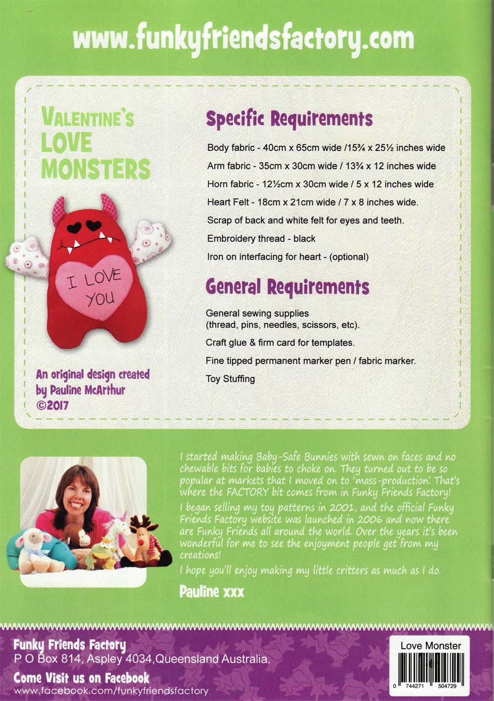 Valentines-Love-Monsters-sewing-pattern-Funky-Friends-Factory-back