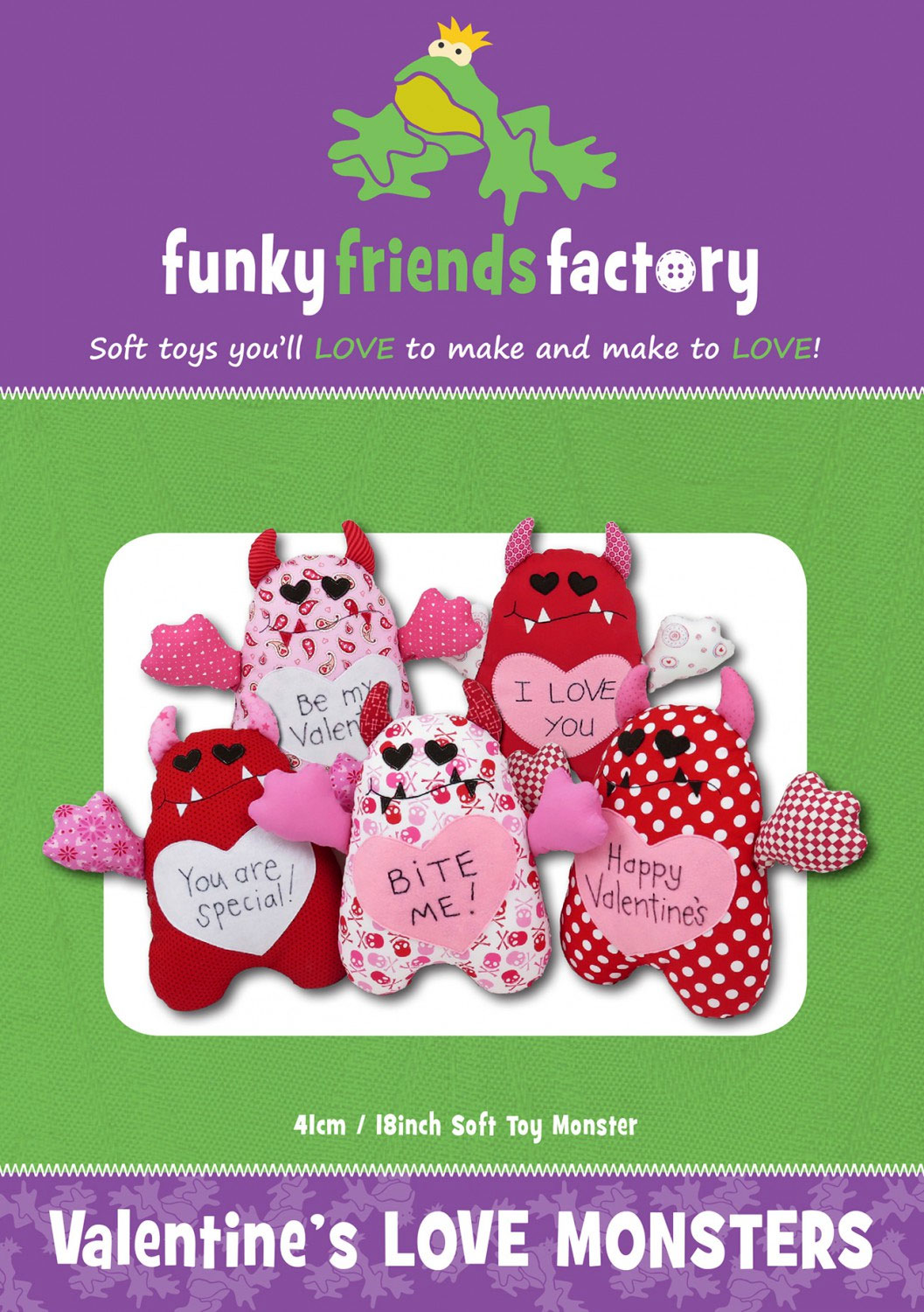 Valentines-Love-Monsters-sewing-pattern-Funky-Friends-Factory-front