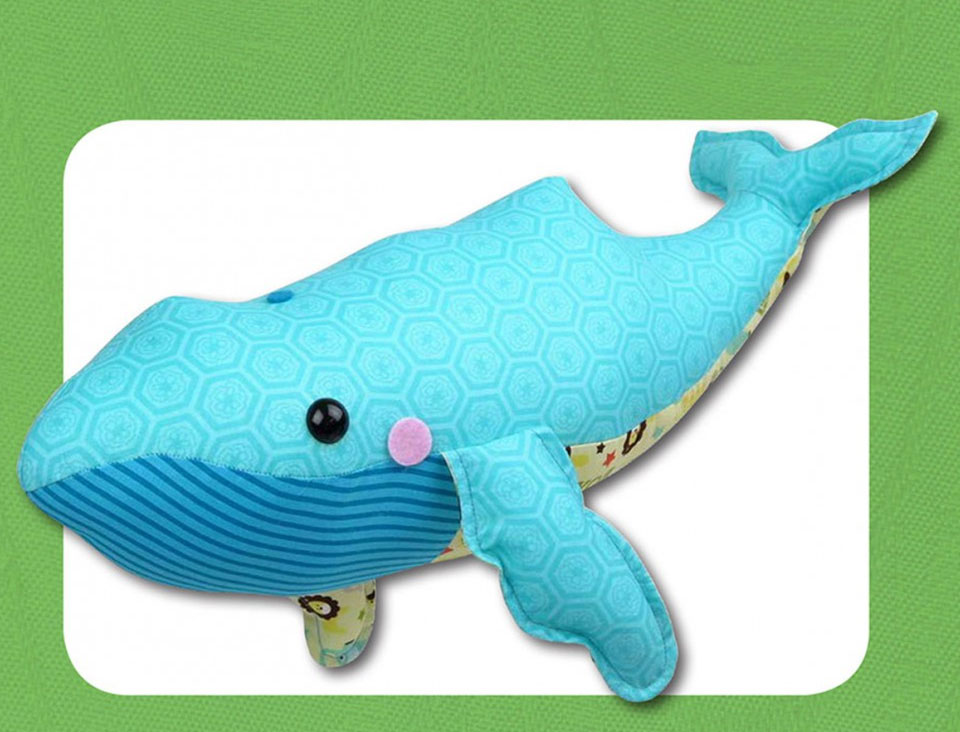 William Whale sewing pattern Funky Friends Factory