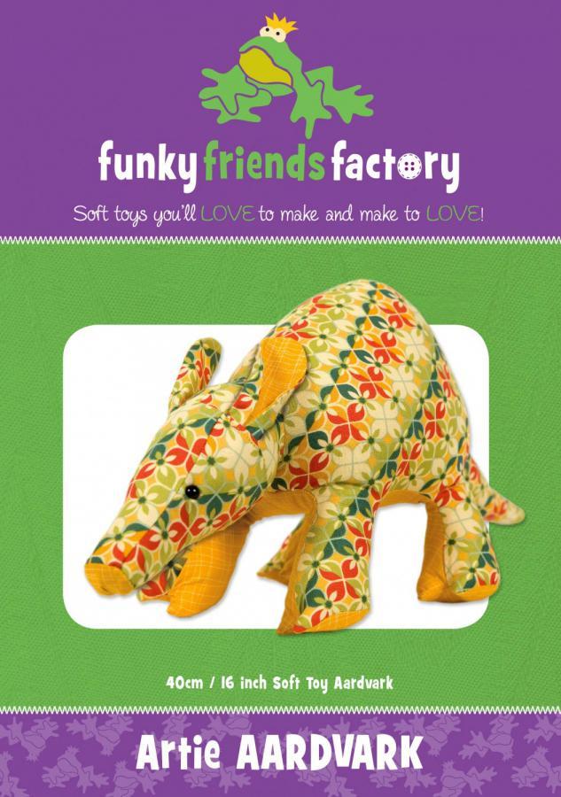 Artie Aardvark sewing pattern Funky Friends Factory