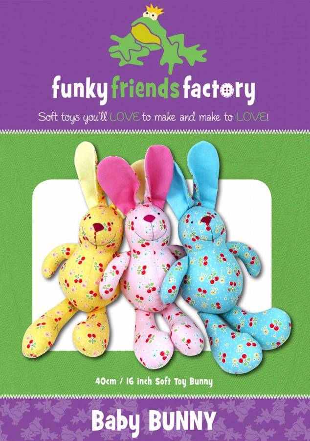 Baby Bunny sewing pattern Funky Friends Factory