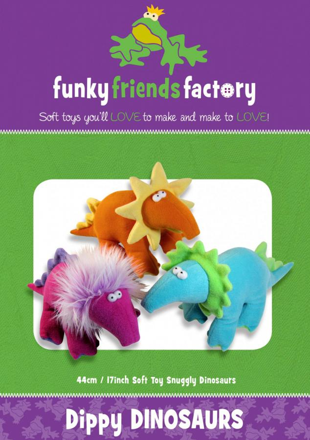 Dippy Dinosaurs sewing pattern Funky Friends Factory
