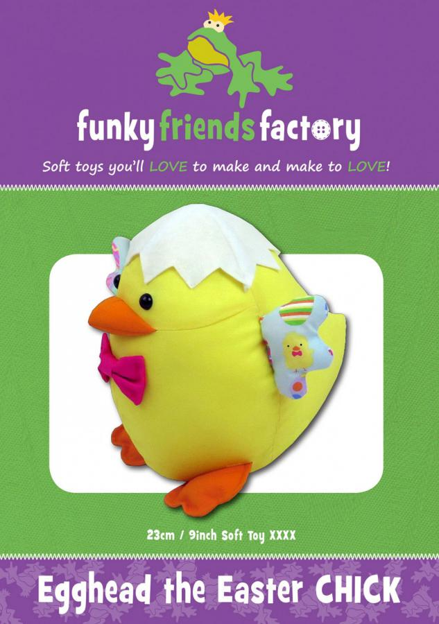 Egghead Easter Chick sewing pattern Funky Friends Factory