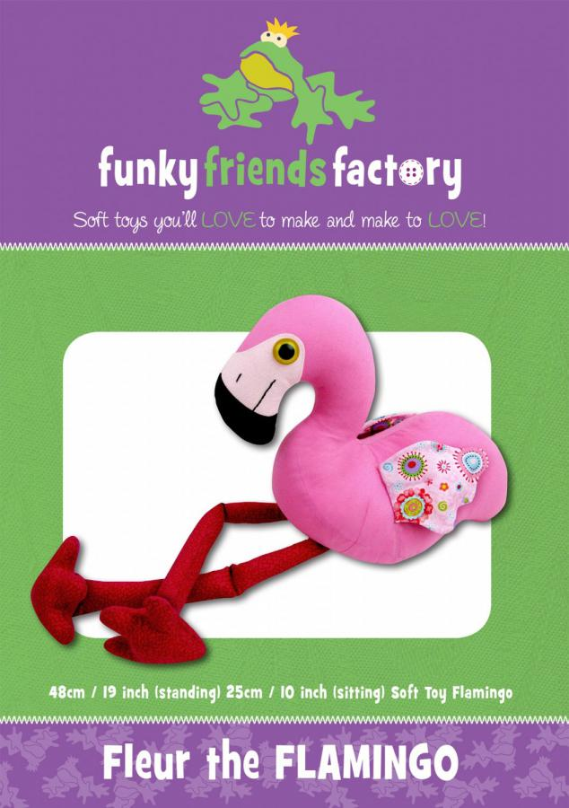 Fleur Flamingo sewing pattern Funky Friends Factory