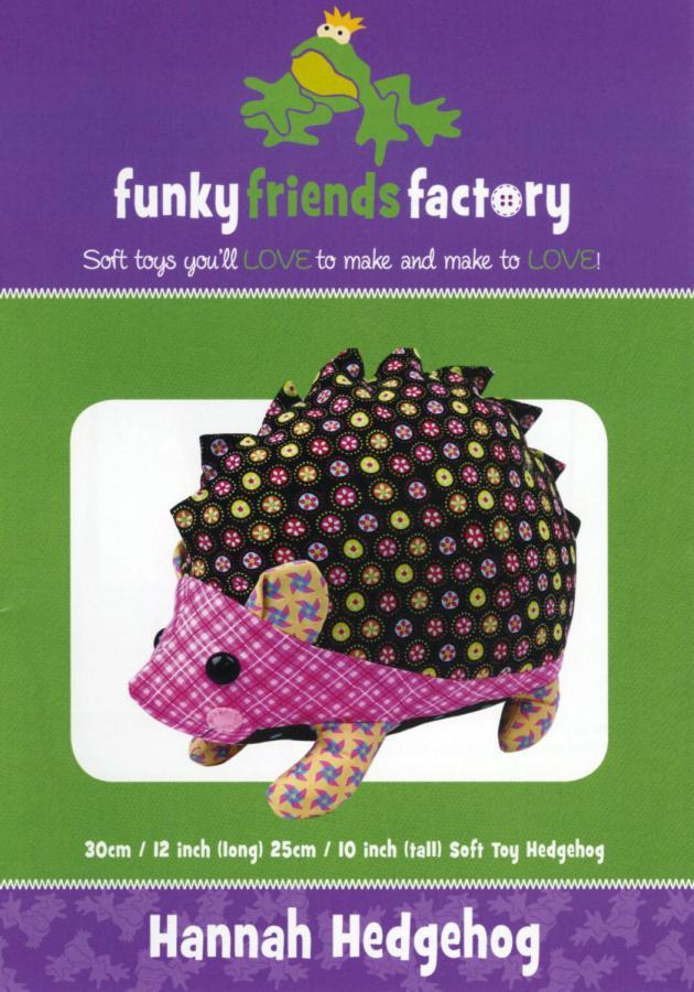Hannah Hedgehog sewing pattern Funky Friends Factory