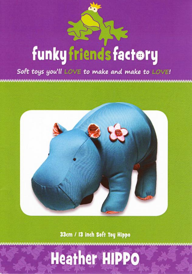 Heather Hippo sewing pattern Funky Friends Factory