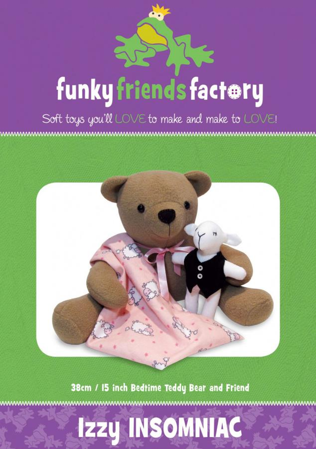 INVENTORY REDUCTION...Izzy Insomniac Bear sewing pattern Funky Friends Factory
