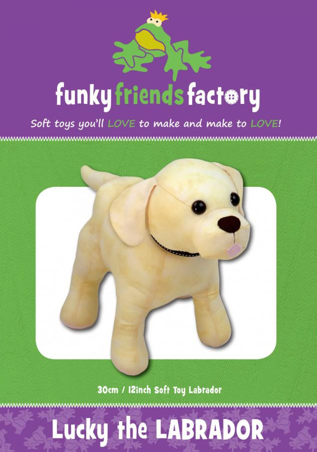 Lucky The Labrador sewing pattern Funky Friends Factory