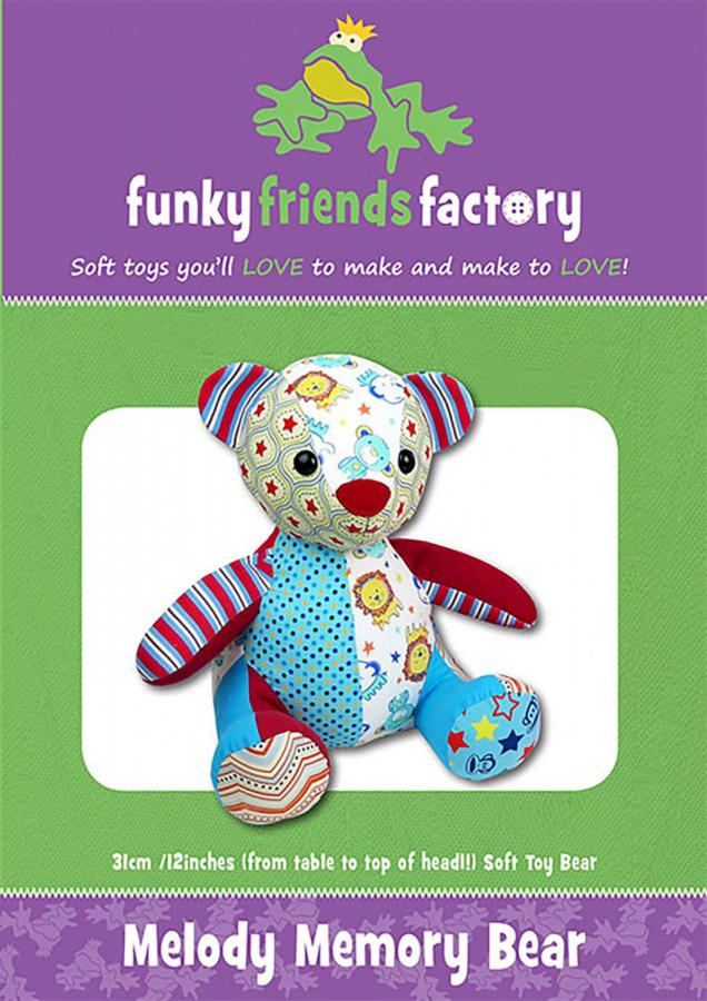 Melody Memory Bear sewing pattern Funky Friends Factory