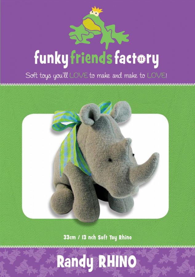 Randy Rhino sewing pattern Funky Friends Factory