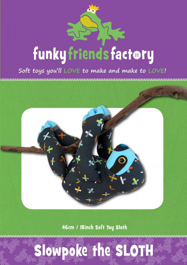Slowpoke-the-Sloth-sewing-pattern-Funky-Friends-Factory-front