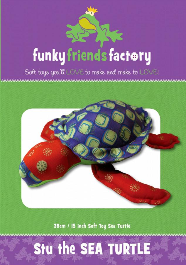 Stu Sea Turtle sewing pattern Funky Friends Factory