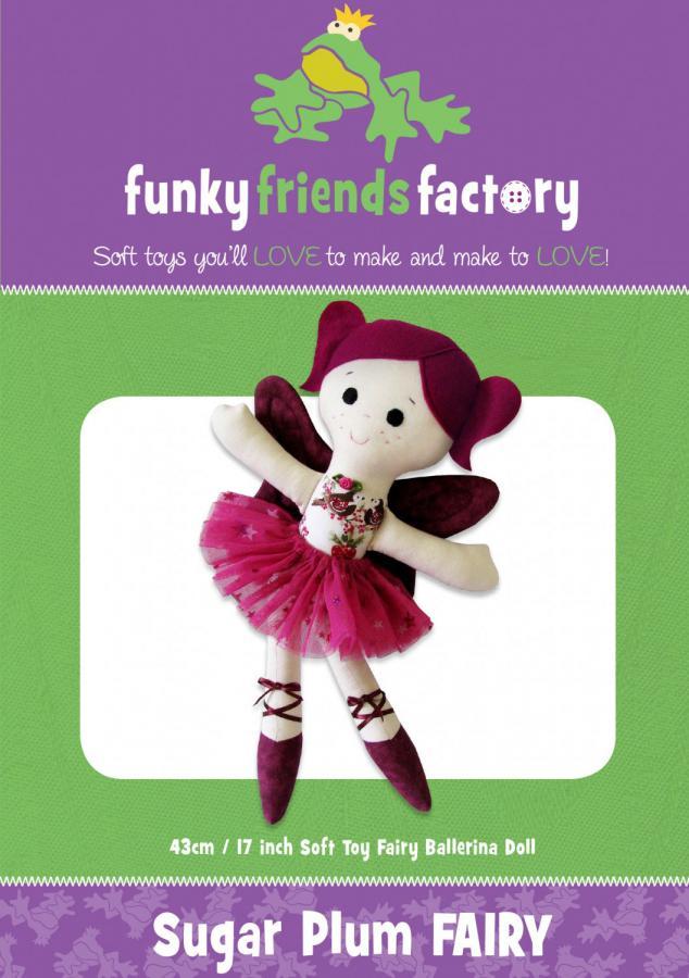 Sugar Plum Fairy sewing pattern Funky Friends Factory