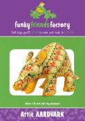 Artie Aardvark sewing pattern Funky Friends Factory
