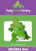 Crocodile or Alligator Steve sewing pattern Funky Friends Factory