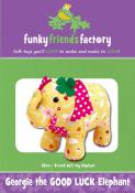 Georgie The Good Luck Elephant sewing pattern Funky Friends Factory