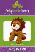 Larry Lion sewing pattern Funky Friends Factory
