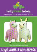 Lloyd-Llama-and-Alice-Alpaca-sewing-pattern-Funky-Friends-Factory-front