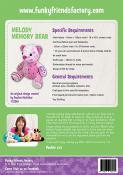 Melody Memory Bear sewing pattern Funky Friends Factory 1