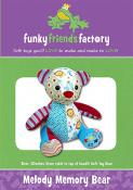 Melody Memory Bear sewing pattern Funky Friends Factory