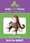 Mitch The Monkey sewing pattern Funky Friends Factory