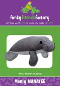 Monty The Manatee sewing pattern Funky Friends Factory