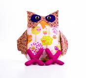 Ollie the Laid Back Owl sewing pattern Funky Friends Factory 2
