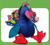 Punju Peacock sewing pattern Funky Friends Factory 2