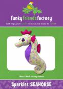 Sparkles Seahorse sewing pattern Funky Friends Factory