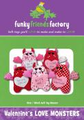 Valentine's Love Monsters sewing pattern Funky Friends Factory