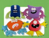 Mix and Match Monsters sewing pattern Funky Friends Factory 2