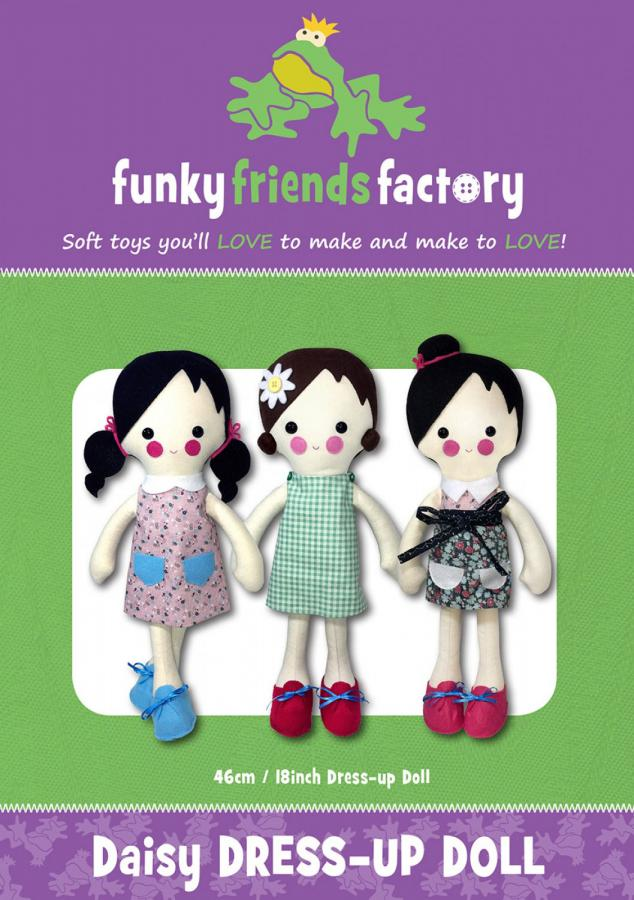 Daisy Dress Up Doll sewing pattern Funky Friends Factory