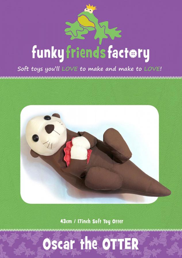 Oscar the Otter sewing pattern from Funky Friends Factory