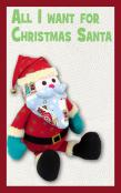 All I Want For Christmas Santa soft toy sewing pattern Funky Friends Factory 3