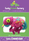 Coco Chameleon soft toy sewing pattern Funky Friends Factory