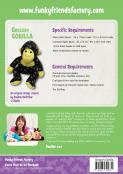Gregory Gorilla soft toy sewing pattern Funky Friends Factory 1