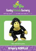 Gregory Gorilla soft toy sewing pattern Funky Friends Factory