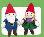 Gunther and Gretchen Gnome soft toy sewing pattern Funky Friends Factory 2