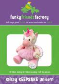 Kelsey Keepsake Unicorn soft toy sewing pattern Funky Friends Factory