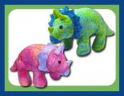Trixie and Tristan Triceratops soft toy sewing pattern Funky Friends Factory 2