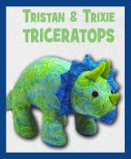 Trixie and Tristan Triceratops soft toy sewing pattern Funky Friends Factory 3