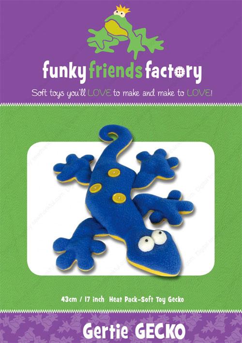 Gertie Gecko Sewing Pattern Funky Friends Factory