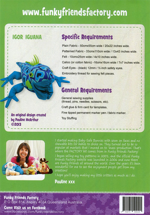 Igor-Iguana-sewing-pattern-Funky-Friends-Factory-back
