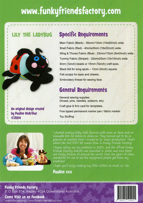 Lily-the-Ladybug-sewing-pattern-Funky-Friends-Factory-back