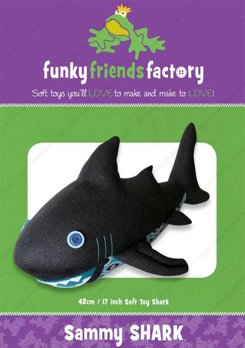 Sammy-Shark-sewing-pattern-Funky-Friends-Factory-front